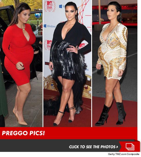 What Kim Kardashian looks like PREGNANT!!!!