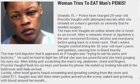#PhukeryNews Woman Tries To Eat Man's Penis!!!!