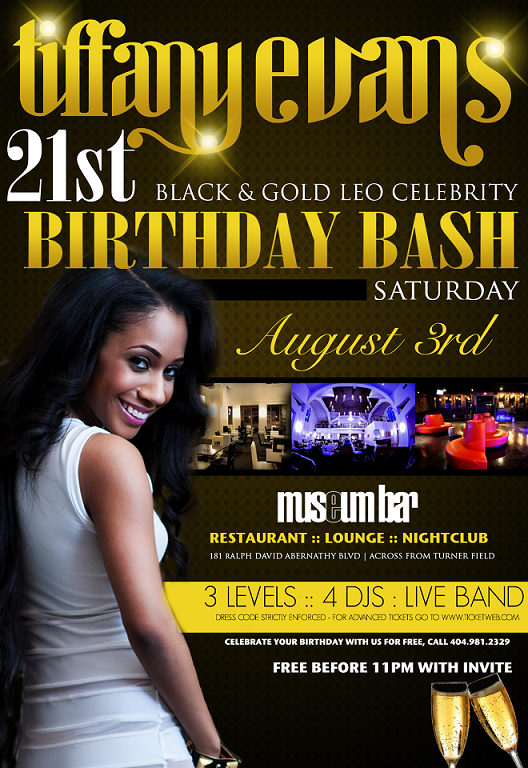 Tiffany Evans' Birthday Bash This Saturday At The Museum Bar In Atlanta!!!!